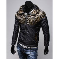 Wholesale Coat Acket - Fall-2015 Locomotive Men's Hoodies High Quality Casual Crime Camouflage Hooded Jacket Cuero Motorcycle Acket Fashion Coat