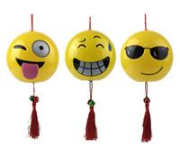 Wholesale cartoon lanterns - Smiling Face Portable Lantern For Cartoon Children Gift Toys Emoji Plastic Lanterns Many Styles 5 9xf C R