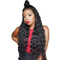 amerikanischen verkauf menschenhaar großhandel-Volle Spitze Menschenhaarperücken Peruanisches Haar Wellenförmige Spitzefrontseitenperücken Für Afroamerikaner Glueless Volle Spitzeperücken Auf Verkauf