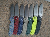 Wholesale Mini Rats - Ontario RAT 2 Mini folding knife AUS-8 Blade A variety of colors G10 Handle Camping Hunting Survival Knives Military Pocket Outdoor Tool OEM