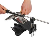 cuchillos de cocina de envío al por mayor-Llega lo nuevo Actualización del sistema profesional de afilador de cuchillos de cocina, ángulo fijo 4 piedras Versión II Actualización de cuchillos de cocina profesionales, envío gratis