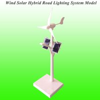 Wholesale Solar Wind Hybrid System - Wholesale-2015 New Arrival Mini Wind Solar Hybrid Road Lighting System Model Mini Solar Toy Mini Wind Generator Model