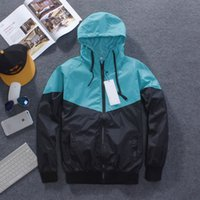 Wholesale waterproof coats plus size women - New Men and women Jacket Spring Autumn Patchwork Reflective Jackets Sport Hip Hop Outdoor Waterproof Windbreaker Coat plus size