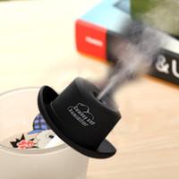 tampa do filtro de ar venda por atacado-Moda Mini USB Cap Cowboy Umidificador Portátil DC 5 V Office Atomizador Difusor De Ar Do Carro Névoa Criador com Varas Filtro Absorvente