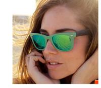Wholesale Glasses Sun Female - Fold Sunglasses Acatate Glass Men Women Glasses Female Male Hipster Colorful Mirror lens Sun Glasses 50MM 54MM Foldable Beach sun glass