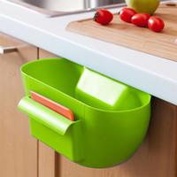 Wholesale Garbage Holder - Cute Home Kitchen Cabinet Trash Storage Box Organizers Garbage Holder Portable Hanging Plastic Box