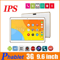 9.6 pollici IPS 1280 * 800 3G Tablet PC MTK6580 quad-core 3G WCDMA GSM sbloccato Android 4.4 1GB 16GB 5MP fotocamera da 10 pollici phablet K960 T950s DHL