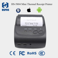 Wholesale Esc Pos - hot sell handheld portable 58pos thermal pocket receipt bill mini printer support esc pos commands with(rs232+usb port) HS-582MW