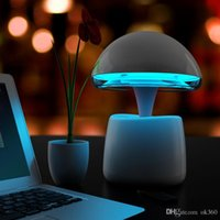 Wholesale Remote Alarm Lamp - A LA Magic Lamp Wireless Bluetooth Speaker LED Night Light LED Alarm Clock Speaker Built-in Lithium Battery with Remote Control for Mobile