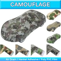 Wholesale Wholesale Digital Camo Military - Military Camo Woodland Vinyl Sticker Camouflage Vinyl Sheet Truck Wrap Decal Desert Digital Camo Vinyl Realtree Air Free1.52x30m