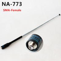 Wholesale Sma Connector For Antenna - Original Naogya NA-773 Two Way Radio Antenna SMA Female Connector For Kenwood BaoFeng QuanSheng TYT HYT UV-5R BF-888S TG-UV2