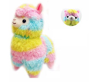 Wholesale Stuff Camel Toys - 35cm Rainbow Alpaca Plush Toy Japanese Soft Plush Alpacasso Sheep camel Llama Stuffed kawaii Toy Gifts for kids and Girls