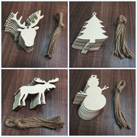 Wholesale C Cashmere - Christmas Tree Pendant Set Woodiness Snowman ShapeWedding Decorations Arts And Crafts For Festive Party Ornament Supplies Many Styles 4jw C