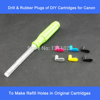 Wholesale Hp Ciss Printer - Drill & a Set of 6 Rubber Plugs Fittings for HP Can Bro Refillable Cartridges & CISS