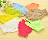 Wholesale Exfoliating Body Gloves - Factory Price Exfoliating Glove Skin Body Bath Shower Loofah Sponge Mitt Scrub Massage Spa