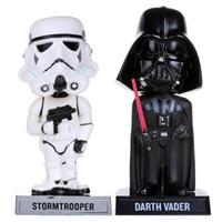 "Wholesale Bobble Head Darth Vader - FUNKO Star Wars Stormtrooper Darth Vader Wacky Wobbler Bobble Head PVC Action Figure Collection Toy Doll 7"" 18CM FKFG095"