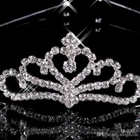 Wholesale Cheap Hair Accessories Free Shipping - 017 Cheap 18030 Crowns Popular Hair Accessories Comb Crystals Rhinestone Bridal Wedding Party Tiara 4.13 inch*1.18 inch Free Shipping