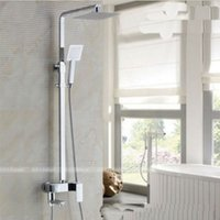 "Wholesale Rain Shower 12 - Wholesale And Retail Promotion Chrome Brass8""   10""   12""  16"" Rain Shower Faucet Set Bathtub Shower Mixer Tap Shower Column"