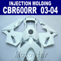 Wholesale cbr body parts - 7Gifts!Injection Molding all white one for HONDA CBR 600RR fairing 2003 2004 cbr600rr 03 04 body repair parts OXSF