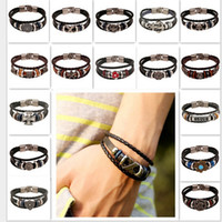 Wholesale Infinity Bar - 2016 HOT Bracelets Mix 16 Style Lots Fashion Jewelry Wholesale Leather Infinity Charm Bracelet Vintage Accessories Lover Gifts