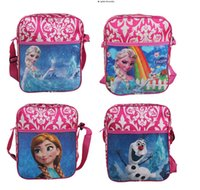 Wholesale School Bags Girls Princess - New 4 style Children's Bags Frozen Messenger Bags for Girls Frozen Princess Elsa Handbags Kids Single shoulder bags Children's school bags