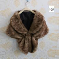 Wholesale Elegant Winter Scarf Woman - Fashion Elegant Faux Fur Shawl Women Ladies European Warm Winter Luxury Collar Party Leopard Scarf Wrap Phocho bufandas mujer