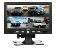 split monitor display - L0798 inch Car Monitor Quad split Video Display Inputs TFT LCD Headrest Rearview backup Video