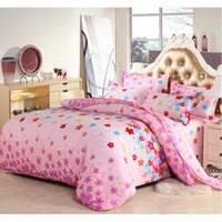 Wholesale romantic pink bedding set online - Romantic Pink Floral Printing Bedding Set Fashion Bed Sheet Duvet Cover Pillowcase Comforter Cover Set Home Textile Gift