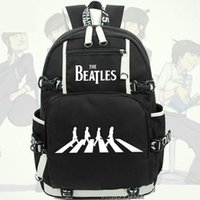 Wholesale beatles band - John Winston Lennon backpack The Beatles daypack Rock band schoolbag Music rucksack Sport school bag Outdoor day pack