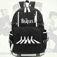 john sport großhandel-John Winston Lennon Rucksack Der Beatles Daypack Rock Band Schultasche Musik Rucksack Sport Schultasche Outdoor Tagesrucksack