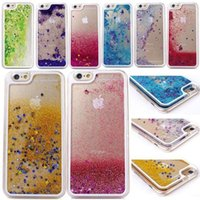 notiz-treibsand-fall großhandel-Floating Glitter Star Running Treibsand Liquid Dynamic Hülle Shining Cover für iPhone 4 5 6 Plus Samsung Galaxy S4 S5 S6 Note 3 Note4