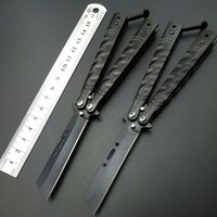 Wholesale Self Screws - 6.8'' inch The screw threads Butterfly Balisong Folding Knives Outdoor Survival Knifes Hunting Tactical blade Utility Pocket BM Knifes