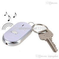 Оптовый-1pcs светодиодный фонарик Anti-Lost Key Finder Locator Find Key Keychain Sound Control Whistle Wholesale