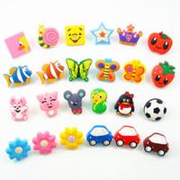 Wholesale Kids Cartoon Bedroom Furniture - 10PCS Cute Soft Gum Cartoon Bedroom Furniture Kitchen Cabinet Kids Dresser Knobs Door Handles