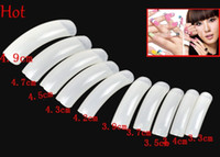 Wholesale Long French Nails - 500Pcs Nude White False Nail Art Design Tips French Extra Long Acrylic UV Salon Design Nail Beauty Natural Colors False Nails Wholesale 4903