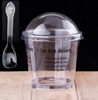 ingrosso favori della torta della tazza-Trasparente PS Gelatina Dessert Cup Monouso Tiramisù Cup Cake Mold 180ml Forniture da forno Bomboniere SD831