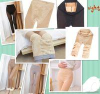 Wholesale Trample Feet Pants - Wholesale- new winter thickened Bikini false through meat Leggings Korean female with velvet thickened trample feet warm pants