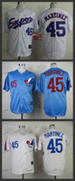 Wholesale Size 45 - montreal expos #45 pedro martinez 2015 Baseball Jersey Cheap Rugby Jerseys Authentic Stitched Free Shipping Size 48-56