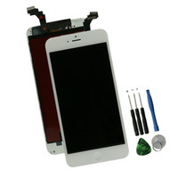 "iphone lcd ремонтный комплект оптовых-Wholesale-For   6 Plus Lcd Screen 5.5"" White Display with Touch Screen Glass Full Assembly + Tools Repair Kit for Replacement"