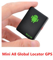 Wholesale Gsm Old - Brand Mini A8 Pets Kids Old People Global Locator GPS Personal Tracker GSM GPRS GPS Security Tracking Device free shipping