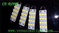 Wholesale 44mm Loop Led - 44mm 12-SMD Rigid Loop White Festoon LED Light Bulbs LED Interior Panel dome Light super bright