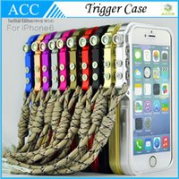 Wholesale Iphone Trigger Case - 1:1 Quality M2 4th design Trigger Case for iPhone 5 5s 6 Plus Aluminum Premium Metal Bumper Case Protector DHL 50pcs