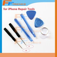 Wholesale Ipone 4s - for iPone 4 4S 4G 5 5C 5S 7 in 1 Repair Pry Kit Opening Tools Cross Head 5 Point Screwdriver Sucker Wholesale Free Shipping 10set lot