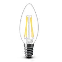 3w kerzenlampe großhandel-Superhelle 2W 4W 200LM 450LM führte Glühlampen-Glühlampen-Licht des 360-Grad-Weiß 6000K warmes weißes 2700K E14 C35 geführte Licht-Lampe 110-240V