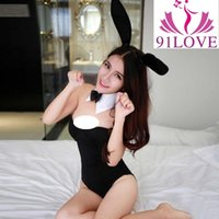 91LOVE Горячий сексуальный 3PCS / Set Catwoman Bunny Uniforms Temptation Suit Bunny Sexy Lingerie Costumes Sex Toy Underwear COSPLAY Bunny Girl 28