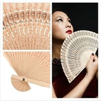 Wholesale Vintage Chinese Style Hollow Folding Bamboo Wooden Carved Hand Fan Gift LT01058 order lt no tracking