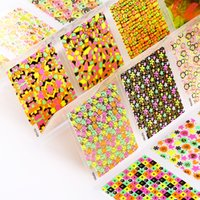 Wholesale 24 Nail Art Designs 3d - art tools 24 Designs Of Nail Stickers Colorful Beauty Glitter 3D Nail Art Tools Bronzing Stamping Diy Decorations For Manicure Nails JH147