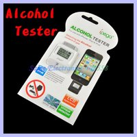 Wholesale Iphone Portable Breathalyzer - Wholesale-Portable Digital Breathalyzer tester LCD Alcohol Tester for iphone ipad ipod