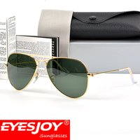 Wholesale Designer Frames For Sale - Classic Pilot Brand Sunglasses for Men G-15 Gold Green designer sunglasses Wholesale Sales Top Quality Sunglasses for women