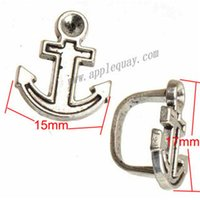 Wholesale Horoscope Watch - Beads Charms Multilayer Watch Bracelet DIY Retro Silver Anchor Can Set Crystal Epoxy Large Hole New Metal Jewelry Findings 17*15*10mm 100pcs